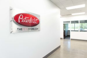 Custom acrylic branded office sign wall mounted