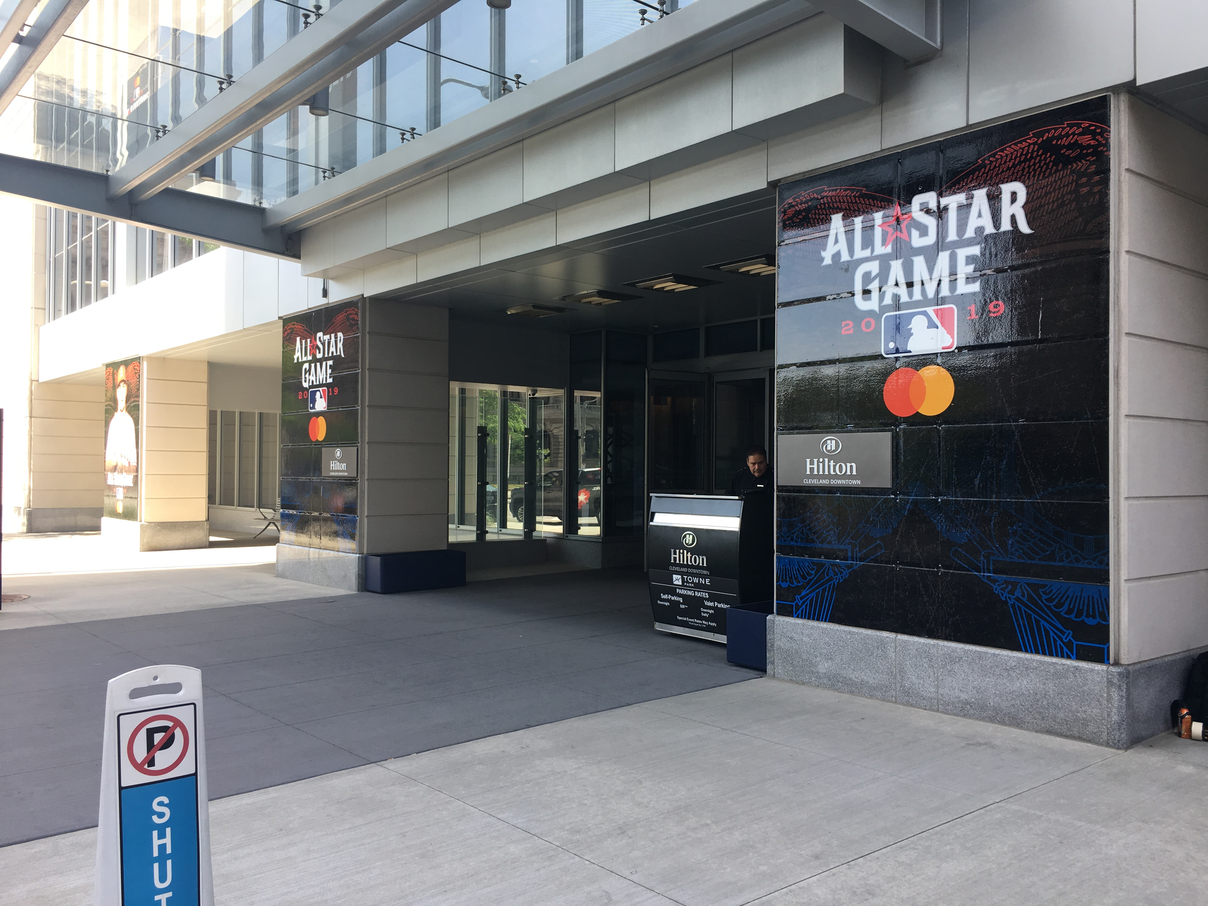 All Star Game wall graphics on Hilton hotel