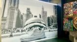 Chicago Bean wall covering